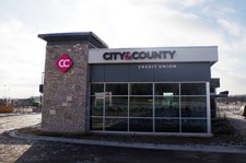 Lit Channel letters for City and County Credit Union in Woodbury, MN.
