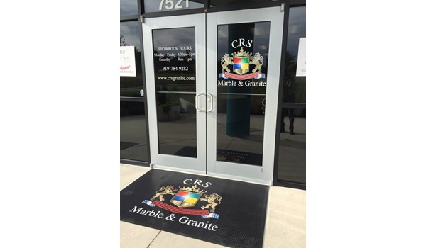 Door Graphics for CRS Marble and Granite in Raleigh NC