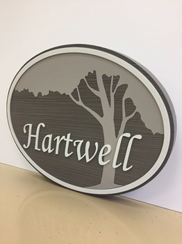 Routed and Sandblasted HDU Sign