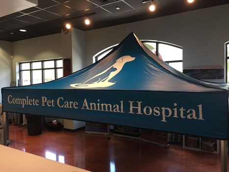 Trade Show Canopy for Complete Pet Care Animal Hospital in Raleigh NC