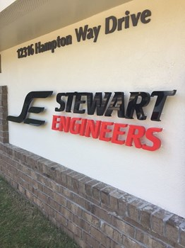 Monument Dimensional Letters for Stewart Engineers in Wake Forest NC