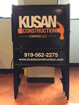 Yard Sign for Kusan Construction in Wake Forest NC